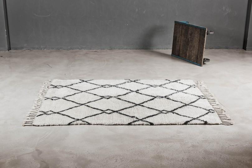 Flauschiger Berberteppich in Weiß