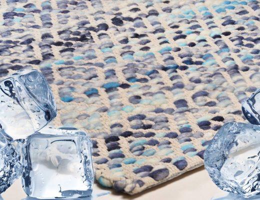 Teppichreinigung mit Eiswürfeln