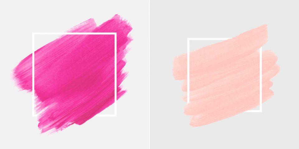 Unterschied Rosa Pink
