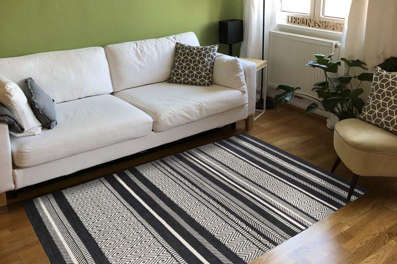 Frische-preview: Esprit Kelimteppich Hudson in Wohnzimmer