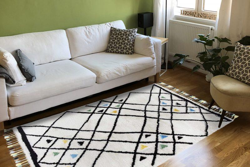 Frische-preview: Ethno Teppich Colorati in Wohnzimmer
