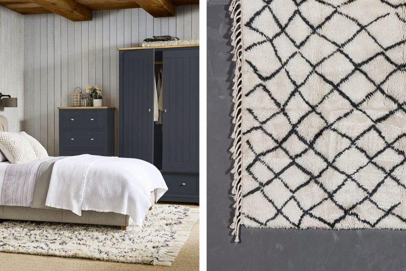 Berberteppich in Schlafzimmer
