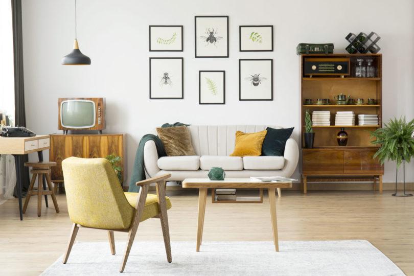 Wohnzimmer im Vintage Stil